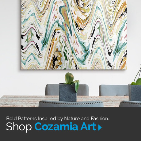 Bold patterns inspired by nature and fashion. Shop Cozamia Art.